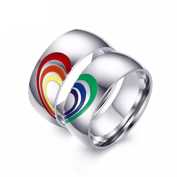 Australia said YES to love! Marriage Equality, Love Wins. Joining Rainbow Heart Couples Promise Rings