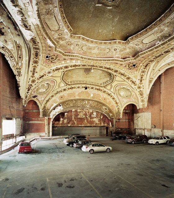 Michigan Theater in Detroit turned into parking lotFavorite Places, Parks Lot, Cars Port, 1929 Michigan, Architecture, Michigan Theatres, Detroit, Cars Parks, Michigan Theater