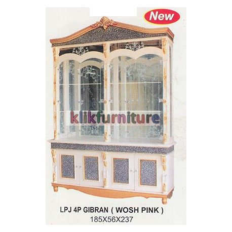 """LPJ 4P Gibran Wosh Pajangan 4 Pintu CMS Condition:  New product  Pajangan LPJ 4P Gibran Wosh Pink Ukuran Panjang : 185cm, Lebar : 56 cm, Tinggi : 237 cm Finishing Wosh Pink """"cek harga"""", hubungi kami jika ada yang lebih murah"""