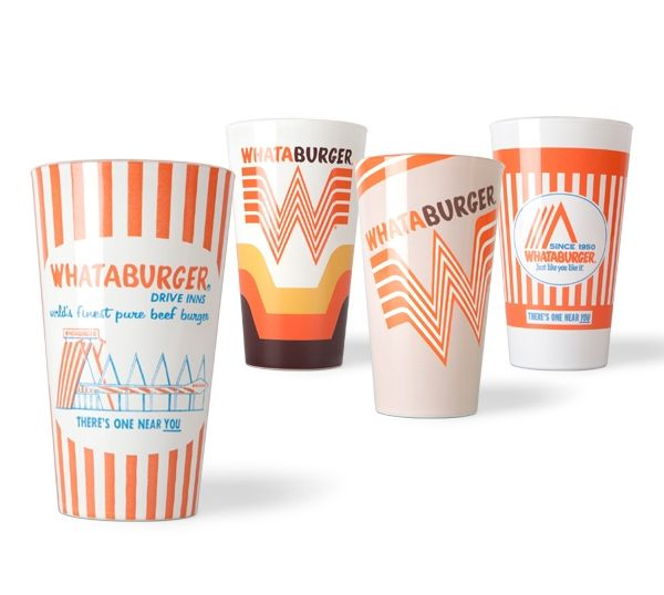 Whataburger pint glasses