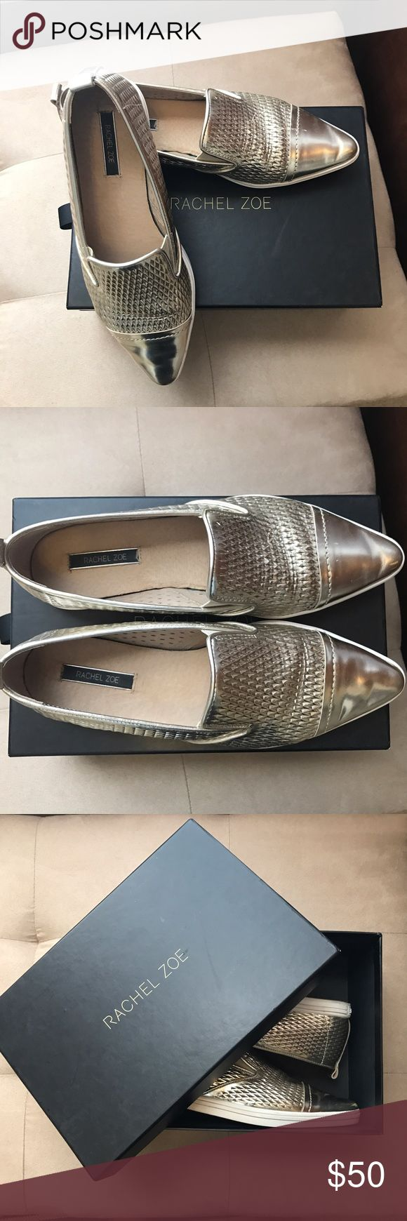 Rachel Zoe Camden flats Rachel Zoe Camden flats in gold. True size 8. Clean and well maintained. Comes in box. Rachel Zoe Shoes Flats & Loafers