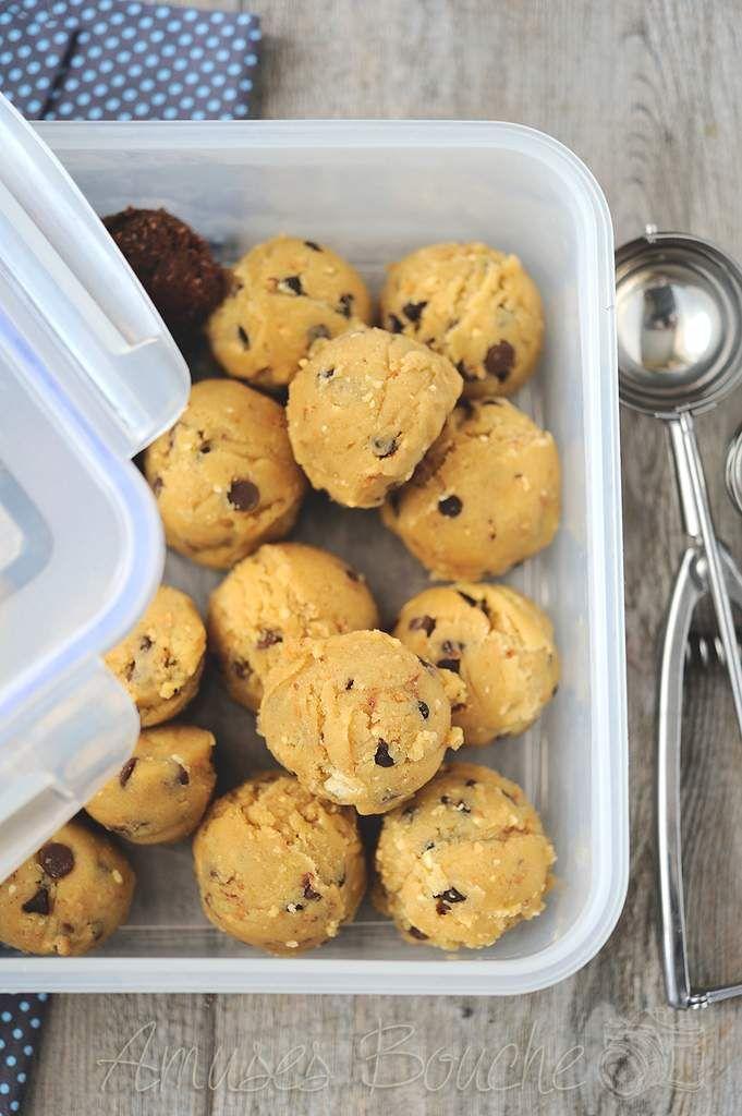 Cookies et astuces : congeler les boules de pâte