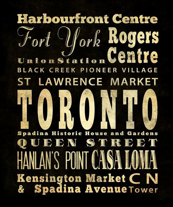 Favourite places in Toronto!