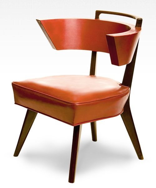 """1949 """"Conference Chair"""" In Polished Tooled Red Leather 