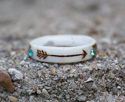 The Antlered Doe handmade deer antler rings. I love this!