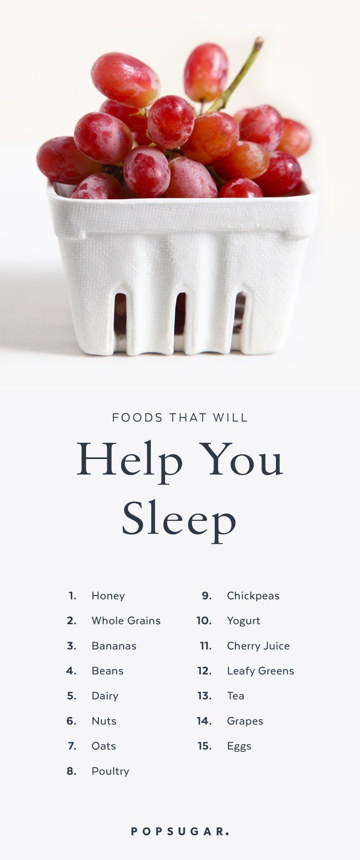 15 Aliments Qui Vous Aideront à Mieux Dormir