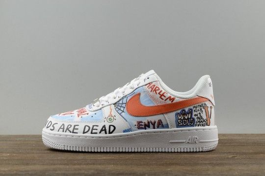 "Pauly Vlone X Nike Air Force 1 Low White ""Mase"" Custom Graffiti Harlem e8b93fd664"