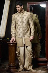 Off White Sherwani, Sherwanis, Embroidered Sherwani, Designer Sherwanis