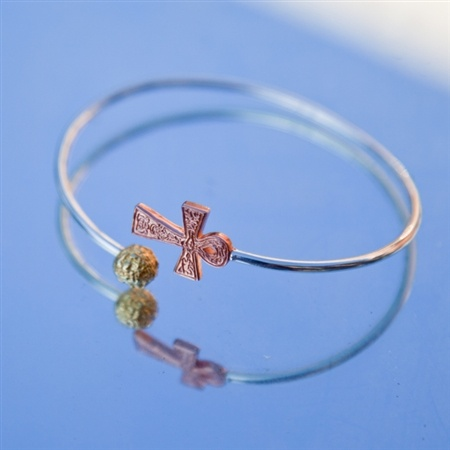 Charms of Life plated silver bangle   by Pantheia   $100