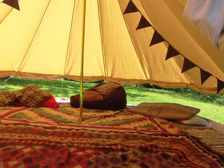 Glamping Cornwall. Bell tent hire Cornwall. Experience a night under canvas in the luxury of a bell tent supplied by Igloo Structures