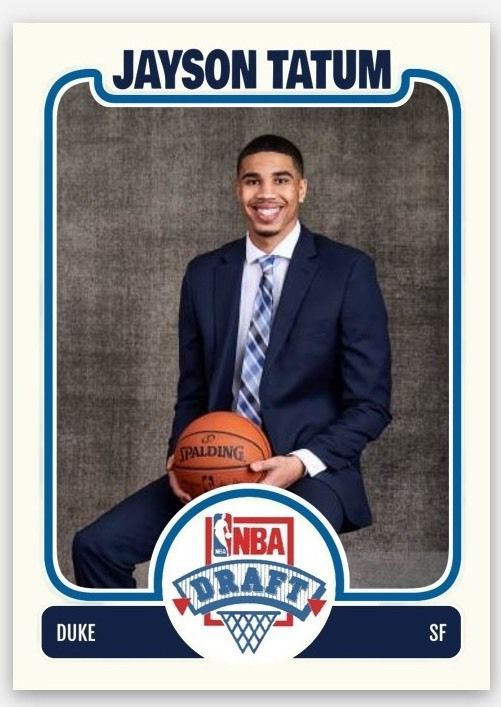2017 NBA Draft Lottery Pick Duke Blue Devil Jayson Tatum custom card rc rookie | Sports Mem, Cards & Fan Shop, Sports Trading Cards, Basketball Cards | eBay!