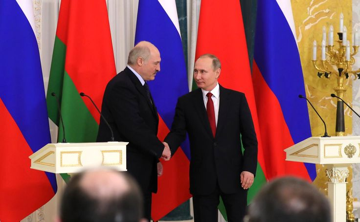 With President of Belarus Alexander Lukashenko.