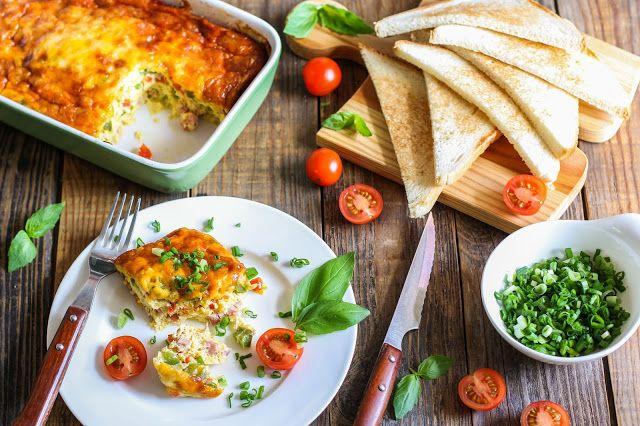 food geek: Запеченный омлет с овощами, ветчиной и сыром