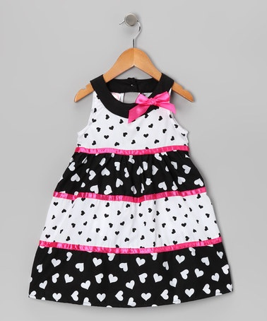 Take a look at this Pink Heart Yoke Dress - Toddler & Girls on zulily today!