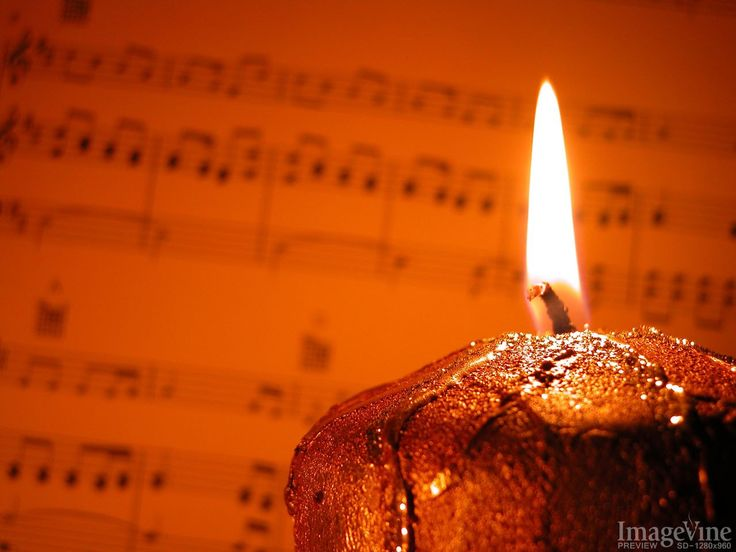 backgrounds for christmas sheet music by candle light