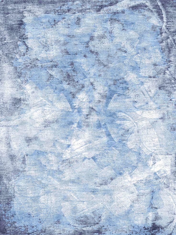 Ethos - Razor Blue Grey Rug | Bazaar Velvet | London Rug Shop