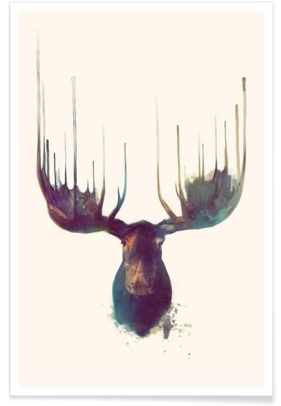 Moose als Premium Poster                                                                                                                                                                                 Mehr