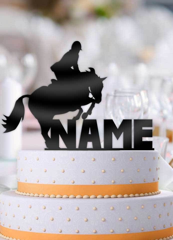 Brilliant Personalized Equestrian Horse Jump Birthday Cake Topper With Personalised Birthday Cards Xaembasilily Jamesorg