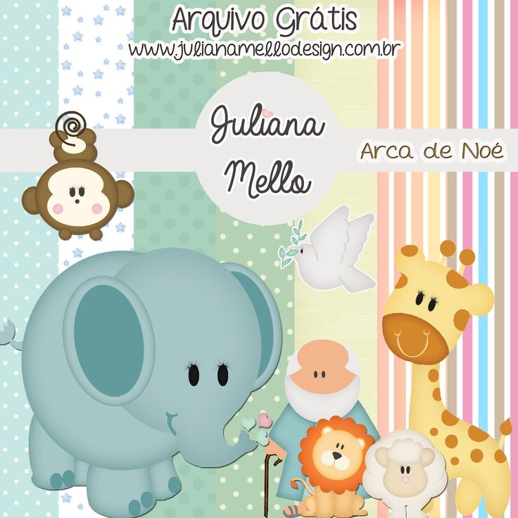 Kit Digital #free Arca de noé! Arquivo grátis.