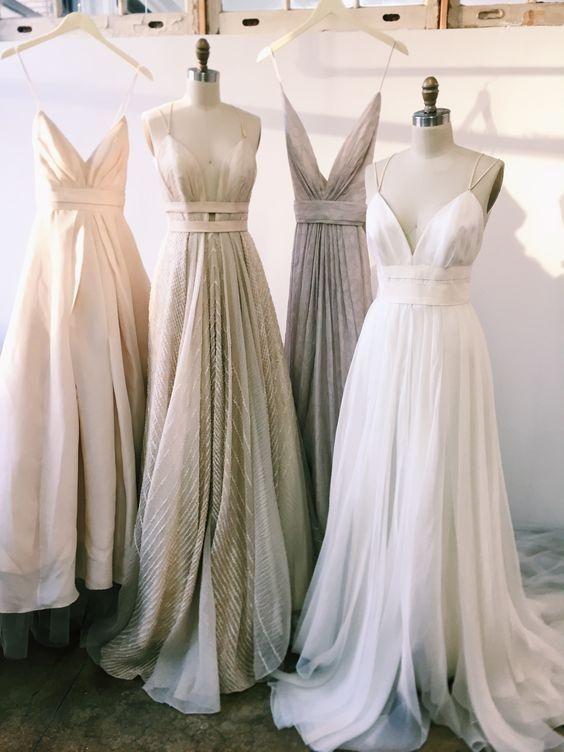 Chic Prom Dresses A-line Spaghetti Straps Tulle Long Prom Dress/Evening Dress JKL456 – Nicole Thomas