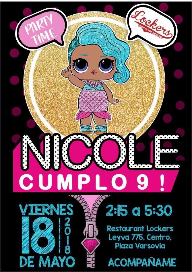Invitaciones Para Fiesta De Cumpleaños Lol Surprise