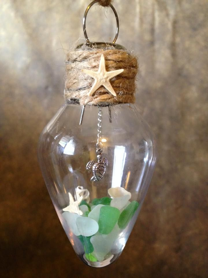 Best 25 sea glass ideas on pinterest sea glass decor sea glass beach themed ornament with beach glass solutioingenieria Choice Image