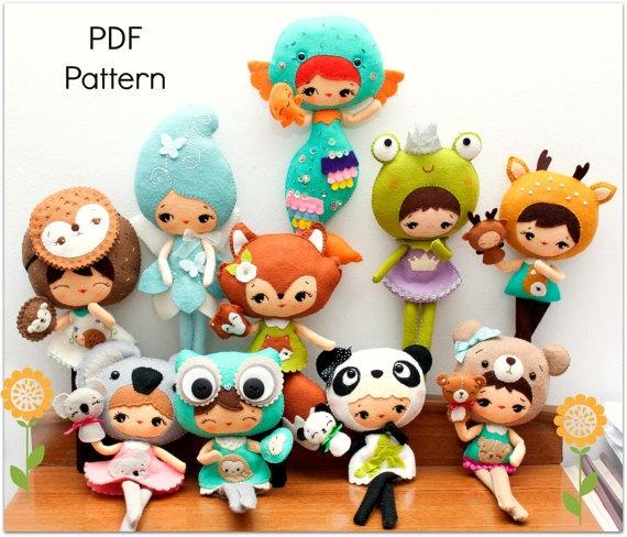 PDF Woodland patterns Set of ten by Noialand on Etsy, $50.00
