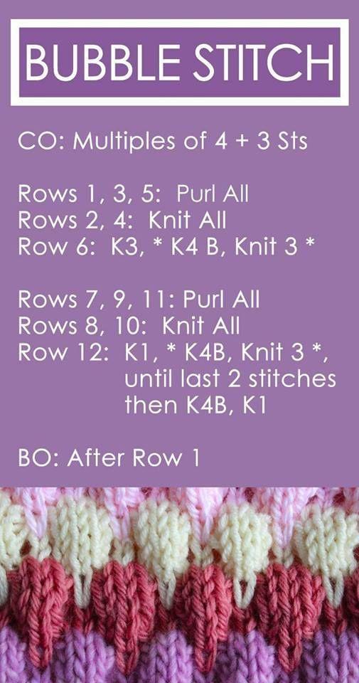 Aprenda a tricotar um ponto de bolha