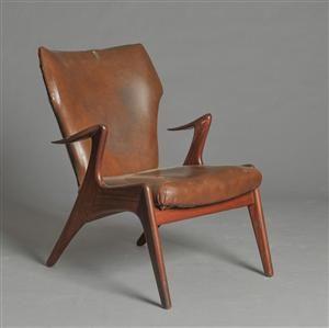Kurt Østervig. Hvilestol af teaktræ  Denne vare er sat til omsalg under nyt varenummer 2955238