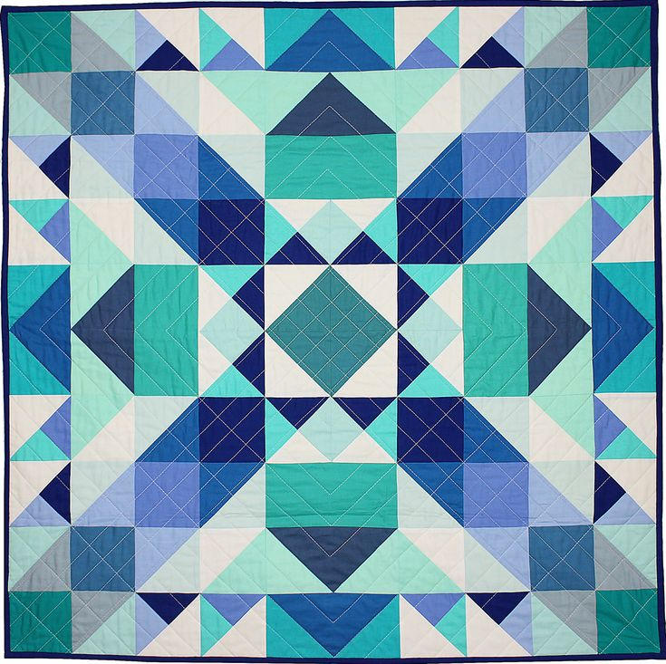 Sea Glass Medallion quilt by Nightingale Quilts as seen at Michael Miller Fabrics