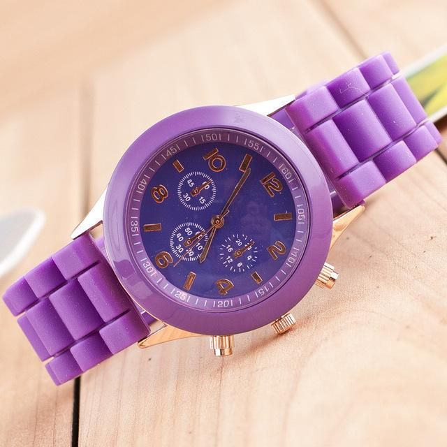 12 colors Fashion Brand Women Dress Casual Geneva Watch Women sport Quartz Watch Silicone Watches Relogio feminino reloj hombre