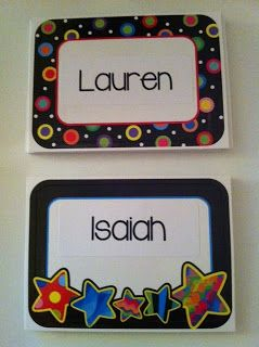 Use name tags to organize your students' cubbies!