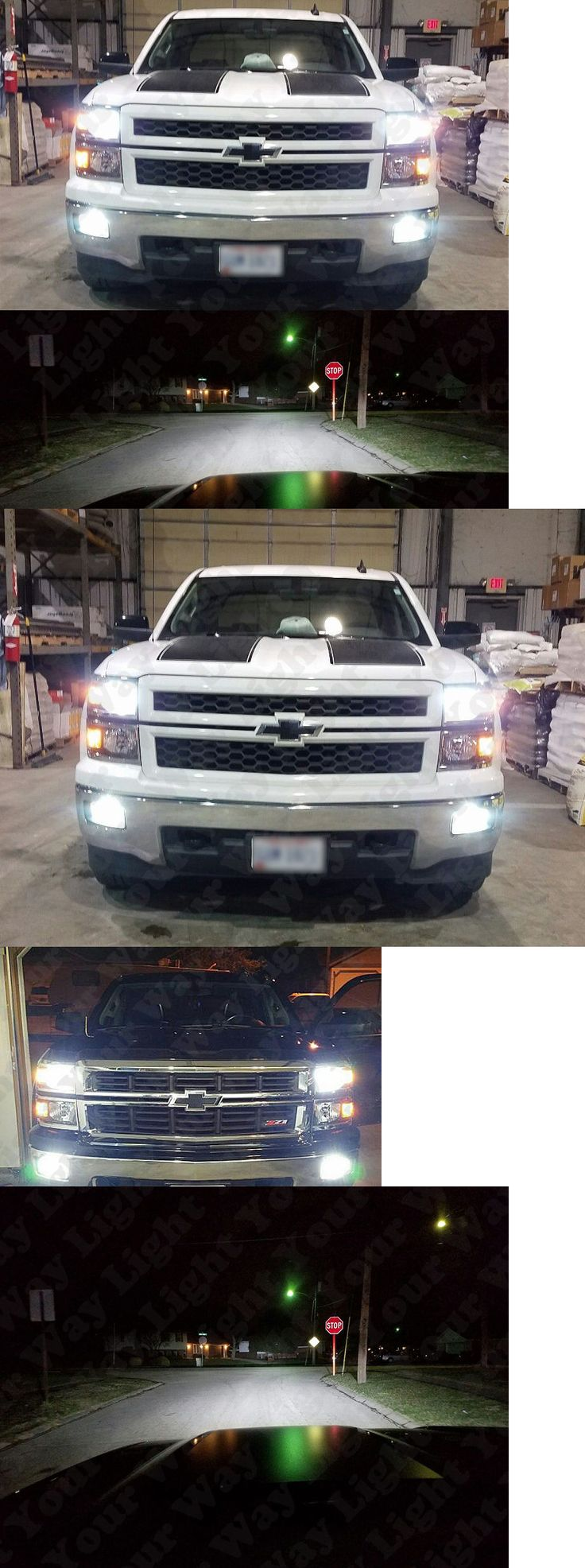 Motors Parts And Accessories: White Led H11 Low Beam Headlight + 5202 Fog Light Bulbs For 2015 2016 Silverado -> BUY IT NOW ONLY: $74.98 on eBay!