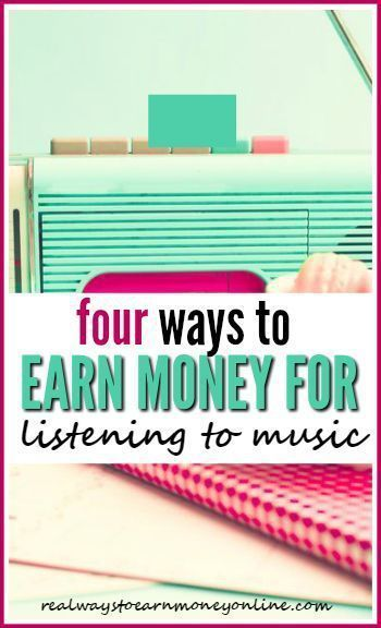 Did you know you can earn money for listening to music online? It's just extra cash, but certainly an easy, mindless way to earn it.