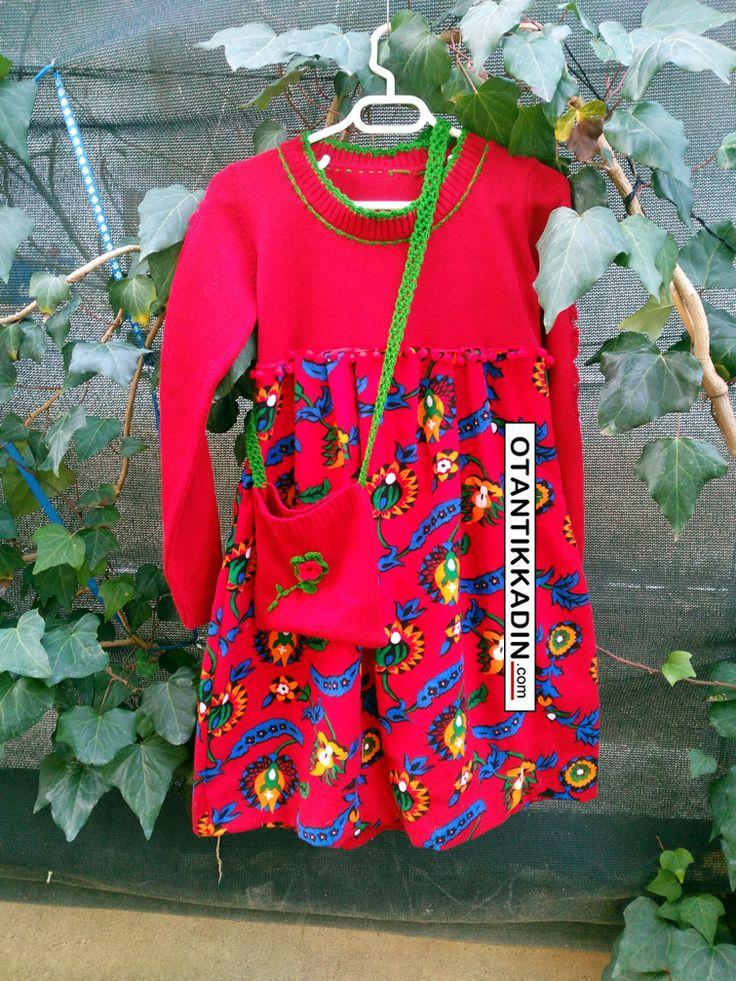 Otantik Pazen-Örgü Kırmızı Elbise-151216 | Otantik Kadın, Otantik Giysiler, Elbiseler,Bohem giyim, Etnik Giysiler, Kıyafetler, Pançolar, kışlık Şalvarlar, Şalvarlar,Etekler, Çantalar,şapka,Takılar