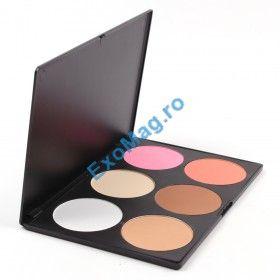 Trusa machiaj 6 culori Pudra Compacta Blusher - Natural Beauty - Pudra - http://exomag.ro/Truse-de-machiaj-Blush-farduri-eyeshadow-eyeliner-lipgloss/trusa-machiaj-6-culori-pudra-compacta-blusher-natural-beauty.html