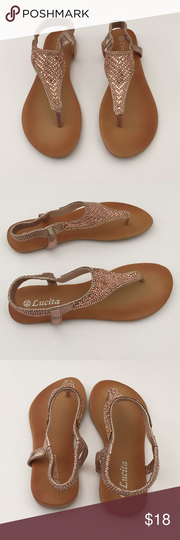 Ross Gold Flip Flop Sandal with Back Rose Gold/ Champagne Flip Flop Sandal with Back. NWT Shoes Sandals