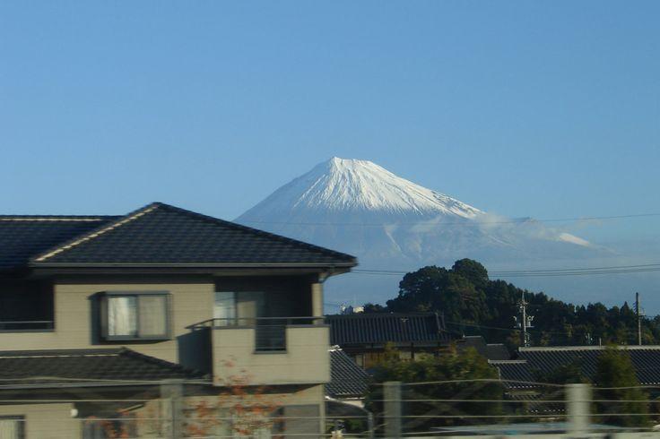 Monte Fuji desde la línea de shinkansen JR Tokaido