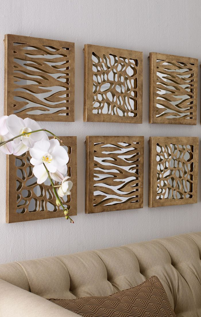 Animal Patterned Mirrored Panels #rustic #decor