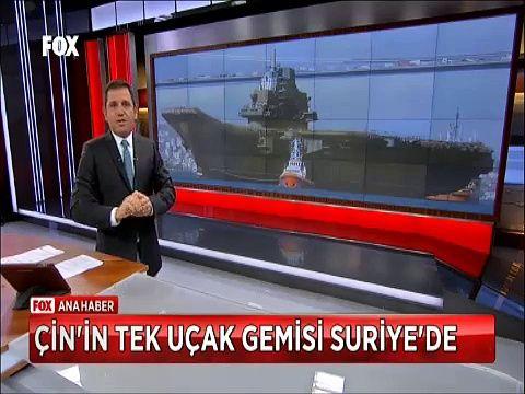 Çin tek Uçak gemisi Varyak'ı Suriye'de savaş için gönderdi