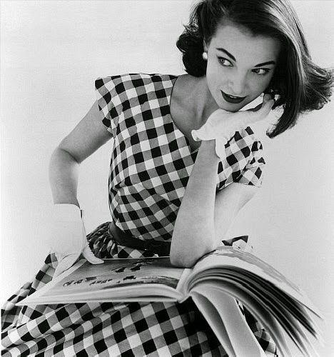 The Vichy fabric a must  of 50s, Sandra Dee loved this one. - Tessuto Vichy un must degli anni 50, Sandra Dee amava molto questa fantasia.
