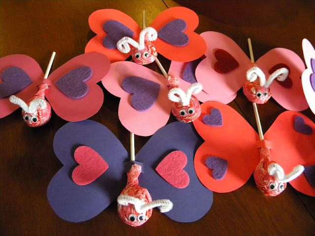 10 Easy Homemade Valentine's Ideas - Butterfly Valentines Cards
