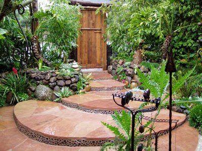 garden design ideas: tropical landscaping ideas florida
