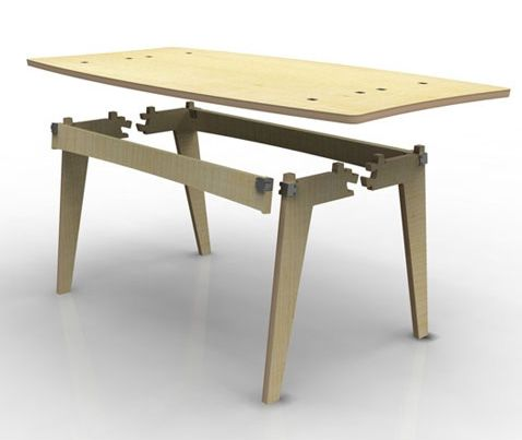 Design blog designaddict design 21 announces winner of for Material design table