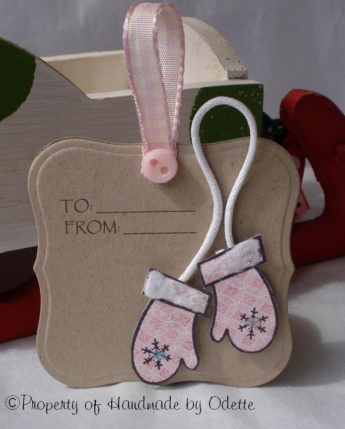 Mini winter tags labels1 die