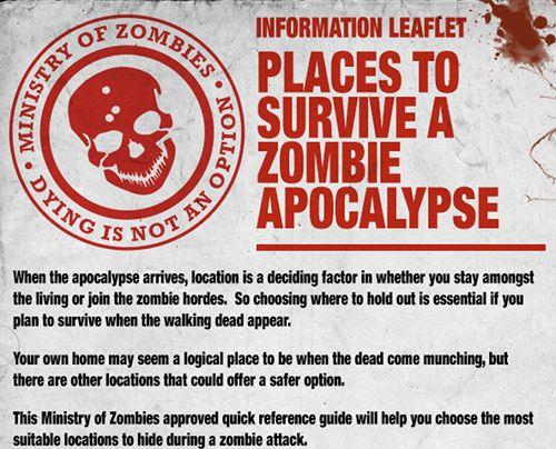 Le meilleur endroit pour survivre à une attaque de zombies