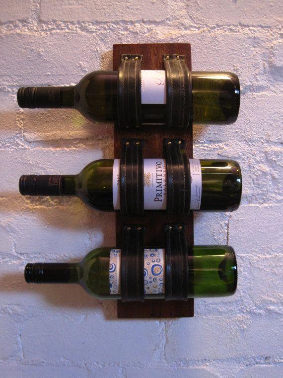 Bike inner tube wine rack