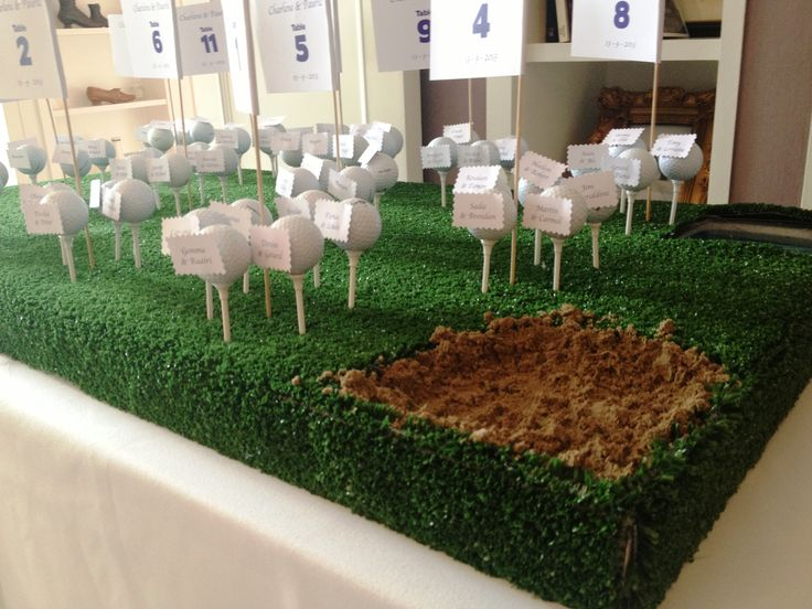 Golf Themed Wedding Table Plan / Escort Card. One Of The