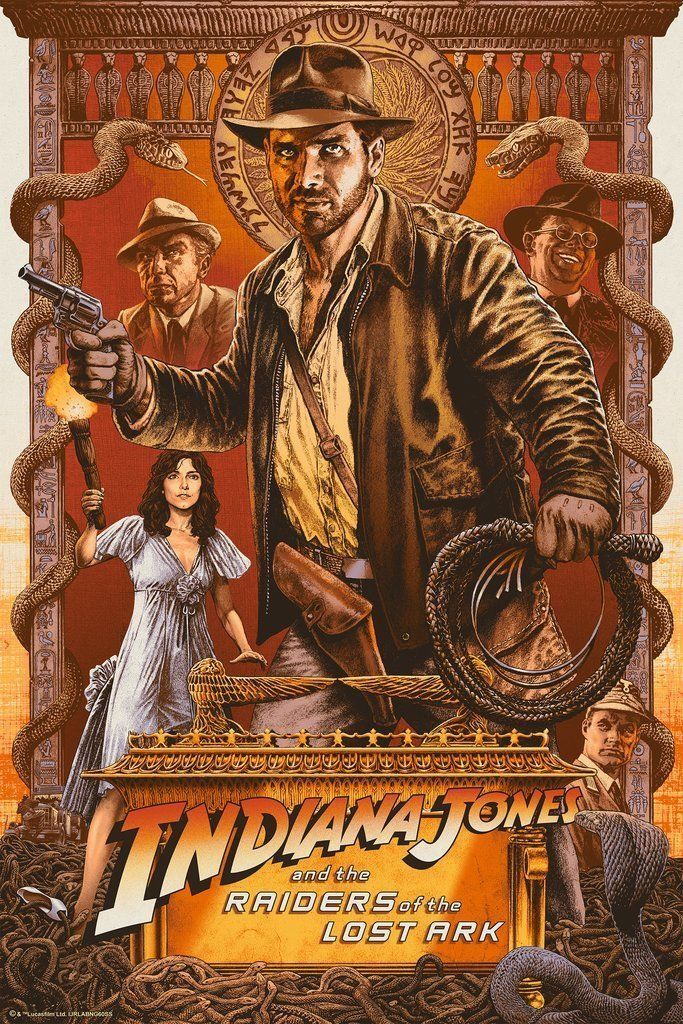 Two Chris Weston Indiana Jones Screen Print Poster Variant And Regular Nt Mondo Indiana Jones Films Indiana Jones Indie Movie Posters