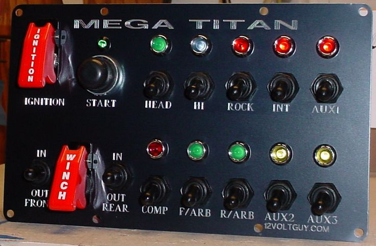 MEGA TITAN: How I wish I had that many switches! What a great way to organise a dash